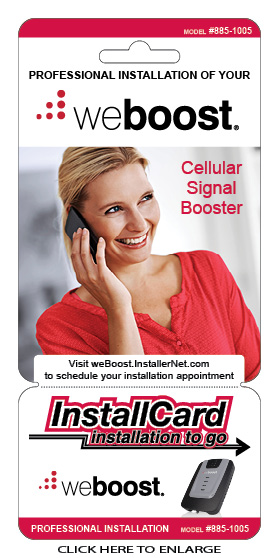 weBoost Home InstallCard front